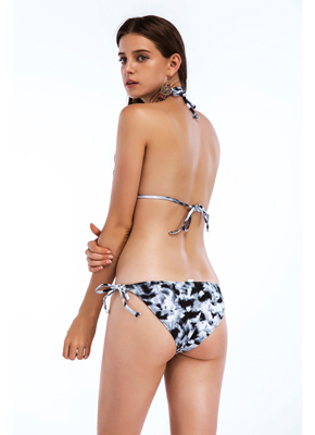 Cloud printing triangle bikini set