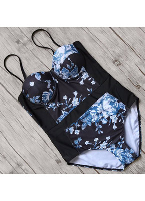 Printing Push Up One Piece Swimwear front