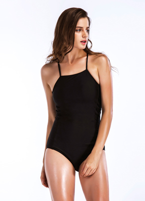 Black Bandage One Piece Bathing Suit
